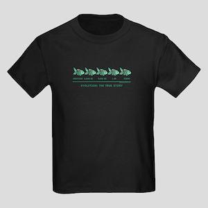 FISH: Evolution: The True Sto Kids Dark T-Shirt