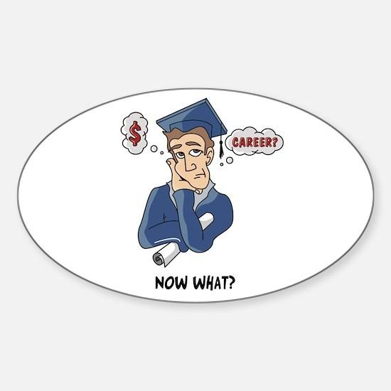 Funny Grad Sticker (Oval)
