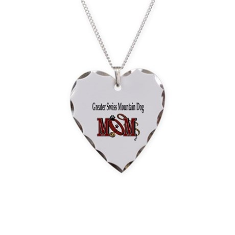 Greater Swiss Mountain Dog Necklace Heart Charm