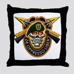 US Army Special Forces Throw Pillow