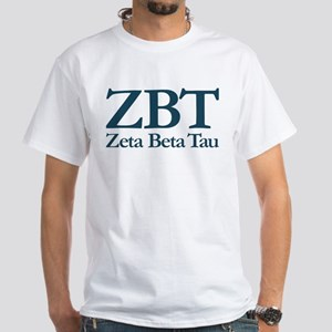 Zeta Beta Tau Fraternity Letters an White T-Shirt
