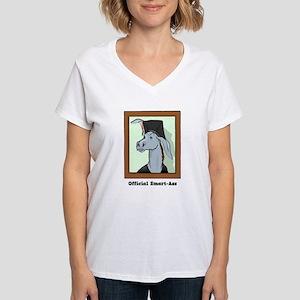 Official Smart Ass Women's V-Neck T-Shirt