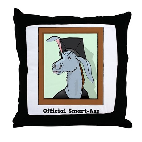 Official Smart Ass Throw Pillow