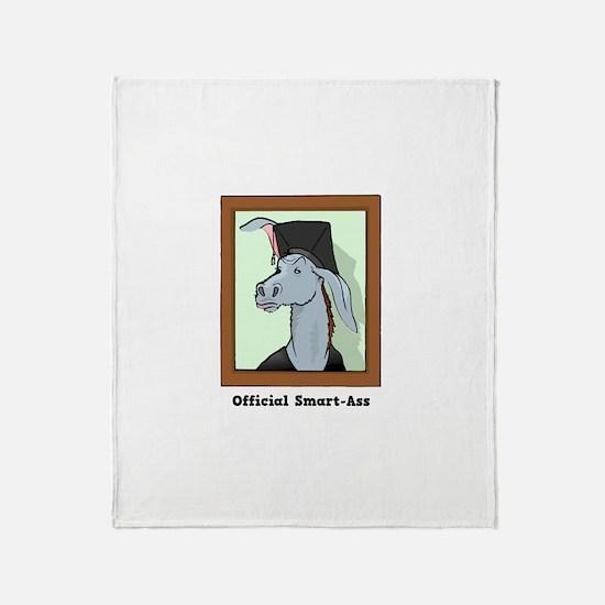 Official Smart Ass Throw Blanket