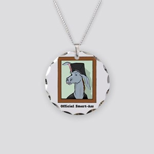 Official Smart Ass Necklace Circle Charm