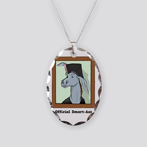 Official Smart Ass Necklace Oval Charm