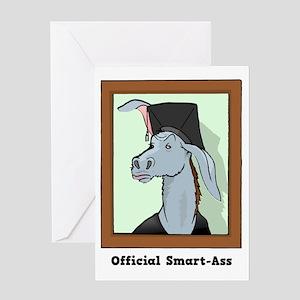 Official Smart Ass Greeting Card