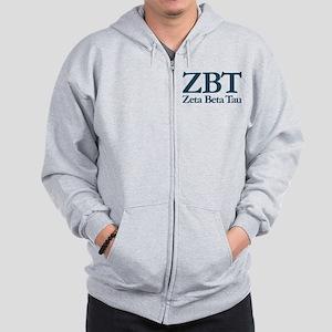 Zeta Beta Tau Fraternity Letters and N Zip Hoodie