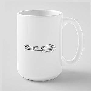 Two 1957 Ford Thunderbirds Large Mug