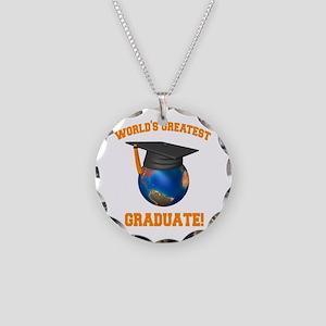 World's Greatest Graduate Necklace Circle Charm