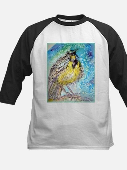 Bird, Meadowlark, bright, Kids Baseball Jersey