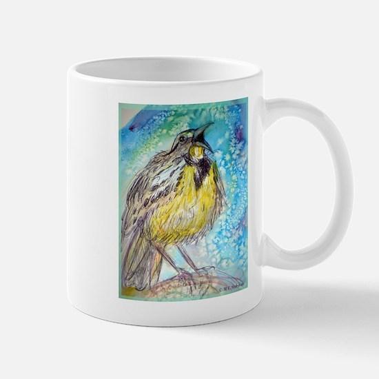 Bird, Meadowlark, bright, Mug