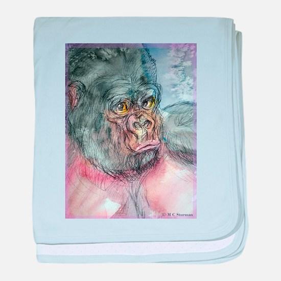 Gorilla, colorful, baby blanket