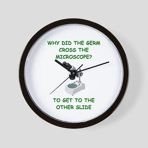biology joke Wall Clock