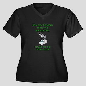 biology joke Women's Plus Size V-Neck Dark T-Shirt