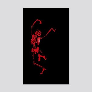 The Dancing Skeleton Rectangle Sticker