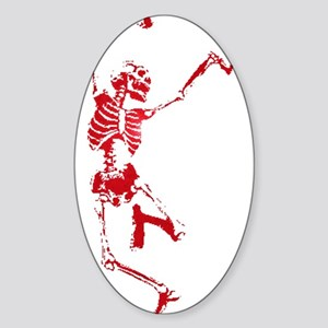 The Dancing Skeleton Oval Sticker