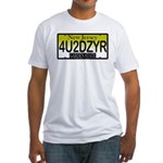 4U2DZYR NJ Vanity Plate Fitted T-Shirt