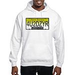 4U2DZYR NJ Vanity Plate Hooded Sweatshirt