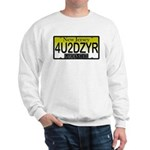 4U2DZYR NJ Vanity Plate Sweatshirt