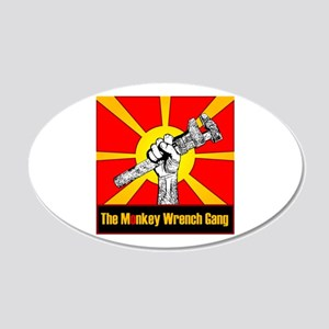 The Monkey Wrench Gang 22x14 Oval Wall Peel