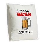 BEER Burlap Throw Pillow