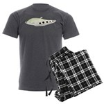 Clown Featherback Knifefish Men's Charcoal Pajamas