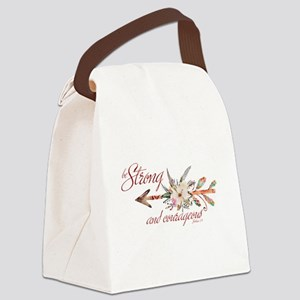 Strong and courageous Canvas Lunch Bag