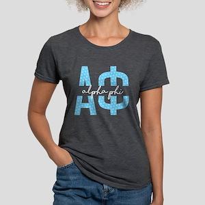 Alpha Phi Polka Dots Womens Tri-blend T-Shirts
