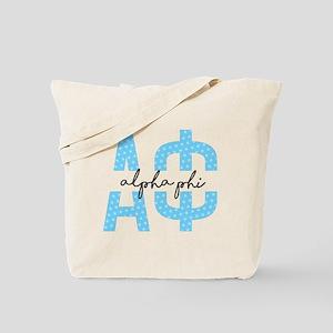 Alpha Phi Polka Dots Tote Bag