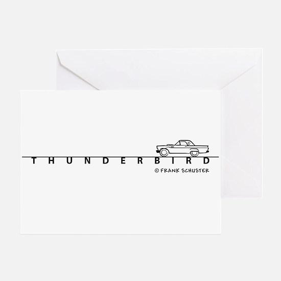 1957 Ford Thunderbird w Type Greeting Card