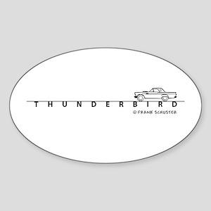 1957 Ford Thunderbird w Type Sticker (Oval)