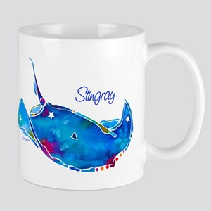 Stingray in Bold Colors Mug