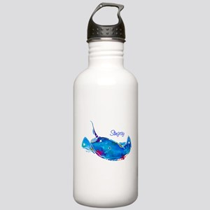 Stingray in Bold Colors Stainless Water Bottle 1.0