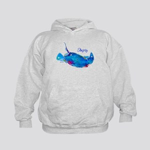 Stingray in Bold Colors Kids Hoodie