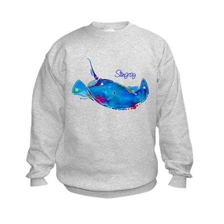 Stingray in Bold Colors Kids Sweatshirt