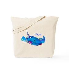 Stingray in Bold Colors Tote Bag