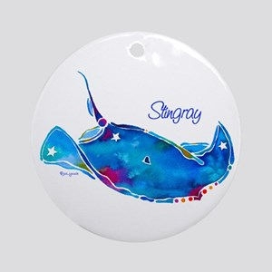 Stingray in Bold Colors Ornament (Round)