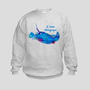 I LOVE STINGRAYS Kids Sweatshirt
