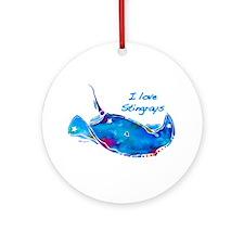 I LOVE STINGRAYS Ornament (Round)