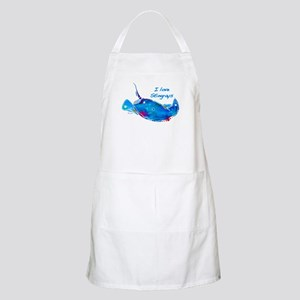 I LOVE STINGRAYS Apron
