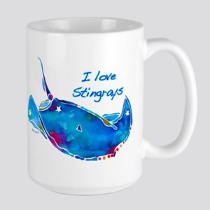 I LOVE STINGRAYS Large Mug