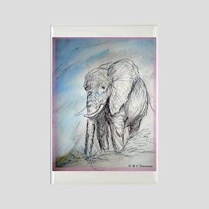 Elephant, wildlife, Rectangle Magnet
