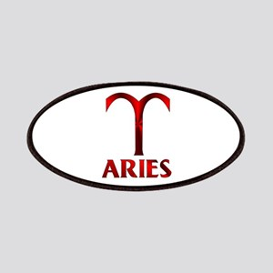 Red Aries Symbol Patch