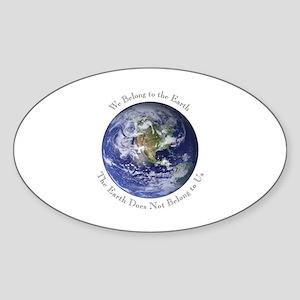 We Belong Oval Sticker