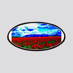 Red Tulip Field Patches