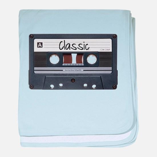 Classic Cassette baby blanket