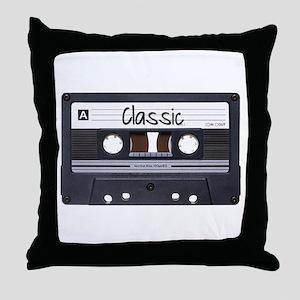 Classic Cassette Throw Pillow