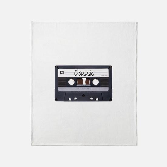 Classic Cassette Throw Blanket