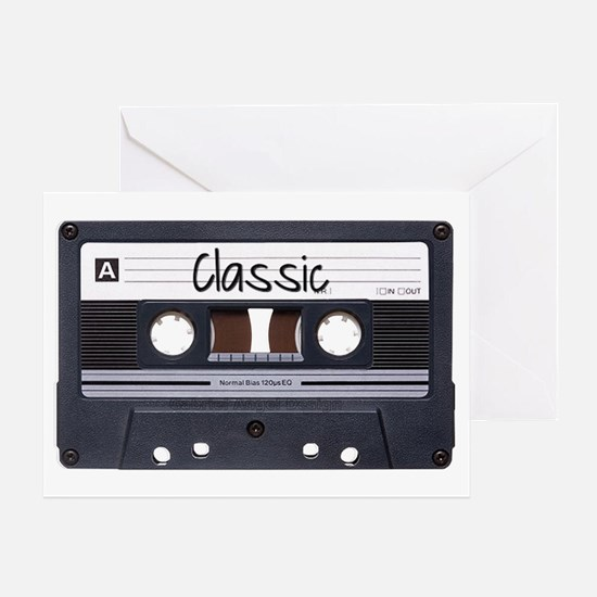 Classic Cassette Greeting Card